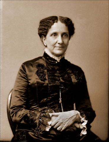 Mary Baker Eddy photographic portrait, 1886, by H.G. Smith in Boston, Massachusetts. Longyear Museum collection.