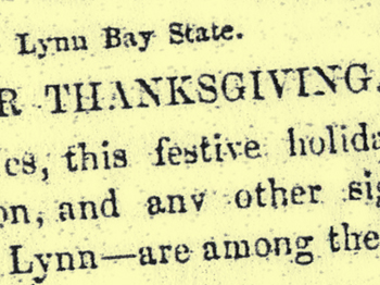 Early Thanksgiving Article