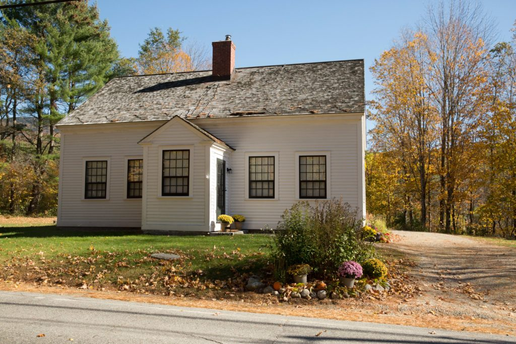 Mrs. Eddy's home in Rumney, New Hampshire during the Fall.