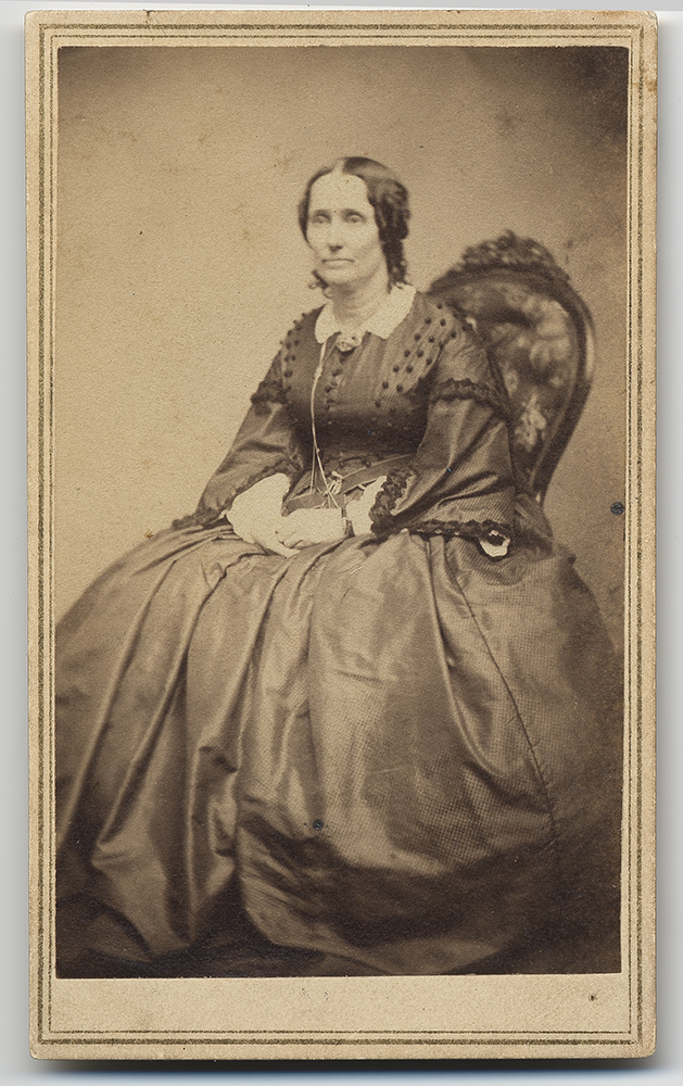 Aail Baker Tilton Sister Of Mary Eddy Original Carte De Visite Photograph Family Collection Longyear Museum