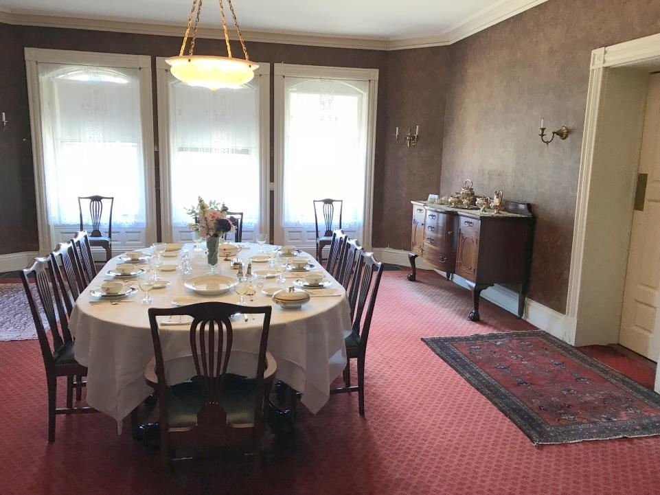 The Dining Room At 400 Beacon Street Before Packing Day .