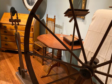 A Closer Look at the Baker Family Spinning Wheel