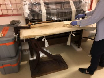 Longyear's collections team discovers an artifact under wraps